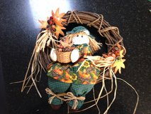 Fall wreath w/Scarecrow in Joliet, Illinois