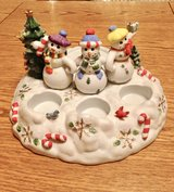 Partylight Snowmen porcelain tealight/pillar candle holder in Joliet, Illinois