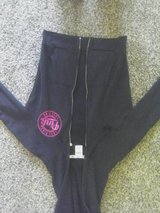 Women's or ladies ... Size small (pink) black hooded sweatshirt..free in St. Charles, Illinois