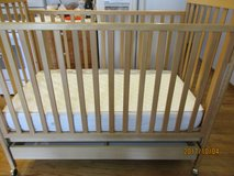 Oak Crib with drawer like new condition in Palatine, Illinois