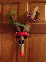 Door Hanging Reindeer decoration in Joliet, Illinois