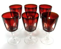 Ruby Red  cut clear Crystal Stemware in Kingwood, Texas