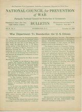 National Council for Prevention of War Bulletins 1920's in Okinawa, Japan