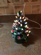 ceramic Christmas tree in Joliet, Illinois