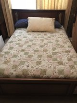Bedroom suit-double bed, 2 dressers, mirror, 2 end tables in Wilmington, North Carolina