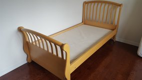 "SOLID WOOD TWIN BED MAPLE NATURAL MADE IN ITALY  BY ""PALI"" DESIGN -  CAN INCLUDE MATTRESS AND BU... in Bolingbrook, Illinois"