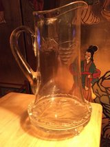 Vintage: Glass Pitcher with Stand in Warner Robins, Georgia