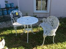 Cast Bistro Set with Table, Chair and Loveseat in Beaufort, South Carolina