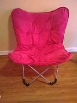Pink chair in Columbus, Georgia