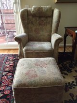 2 German made wing chairs/ottoman in Fort Belvoir, Virginia