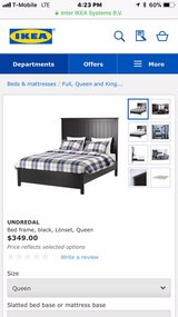 king bed frame from ikea used in good condition. in Aurora, Illinois