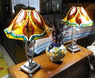Matching Pair of Beautiful Tiffany Style Lamps in CyFair, Texas