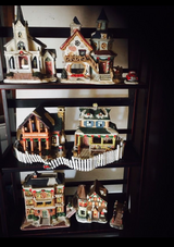 Mini Christmas town in Yucca Valley, California