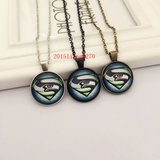 SEATTLE SEAHAWKS Glass Cabochon Pendant / Necklace (Superman design) - NEW in Tacoma, Washington