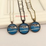 SEATTLE SEAHAWKS Glass Cabochon Pendant / Necklace (traditional logo) *** NEW *** in Tacoma, Washington