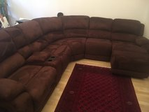 Sectional w/ 2 Recliners and Chaise Lounge in Wiesbaden, GE