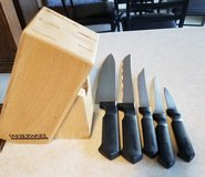 5pc Knife block set in Fort Riley, Kansas