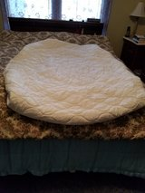 Full size white mattress protector in Fort Riley, Kansas