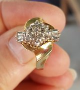 Gold Cluster Ring in Fort Riley, Kansas