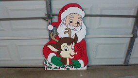 Small Santa with Rudolph in Kingwood, Texas
