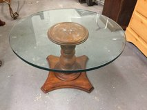 Coffee Table Accent Table Wooden and Glass in Fort Benning, Georgia
