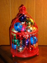glitter bird cage w/ornaments in Glendale Heights, Illinois