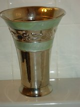 "silver/green vase 9-1/2""H in Glendale Heights, Illinois"