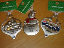 3 NWT metal ornaments in Glendale Heights, Illinois
