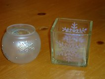 snowflake candleholders in Naperville, Illinois