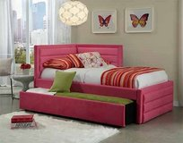 Pink trundle bed in Fort Campbell, Kentucky