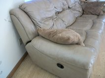 Leather Couch that reclines in Camp Lejeune, North Carolina