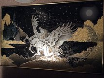 Art: Pegasus-Glass With Copper Frame in Warner Robins, Georgia
