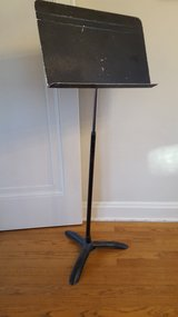 Vintage Sheet Music Stand from Wheaton Central High School in Bartlett, Illinois