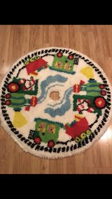 """Vintage Latch Hooked Christmas Tree Skirt 38"""" Round in Tinley Park, Illinois"""