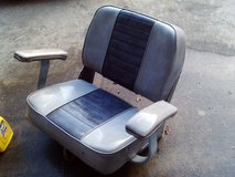 Captain Style Two-Tone Gray boat seat in Warner Robins, Georgia