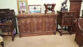 Large Green Man Carved Oak Sideboard Free Delivery Others Available in Lakenheath, UK