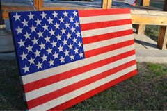3FT Exotic Wood American Flag in Fort Bragg, North Carolina