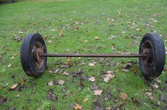 "Old axle do not what it is off. 5.75/6.00-16 tyres 11/2"" square 63"" inside hub to hub 73"" out si... in Lakenheath, UK"