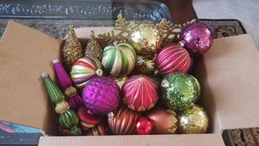 Christmas ornaments box in New Lenox, Illinois