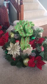 Christmas wreath in New Lenox, Illinois