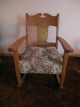 Oak Upholstered Rocker - Antique in New Lenox, Illinois