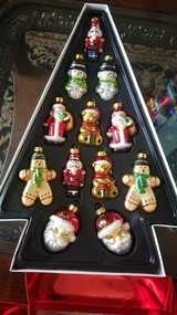 Set of glass Christmass ornaments in New Lenox, Illinois