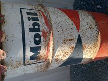 Vintage Mobil oil drum in Leesville, Louisiana