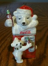 2004 Coca-Cola Pearlescent Porcelain Polar Bear Ornament in Columbus, Georgia
