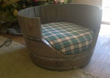 whiskey barrel dog bed in San Clemente, California