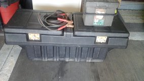 Pick Up Truck  Storage Utility  Box Container w/ Jumper Cables & Tool Box in Naperville, Illinois