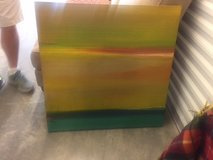 Abstract Oil Painting in Beaufort, South Carolina