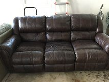 Leather couch in Tinley Park, Illinois