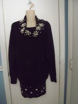 Black Knit Cowl Neck Sweater with Beads in Greenville, North Carolina
