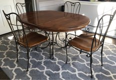 Solid Wood & Iron Kitchen Table and 4 Chairs in Naperville, Illinois